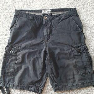Men's Free World Gray Cargo Shorts